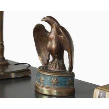 Antique Brass Bald Eagle Figurine