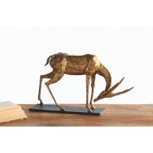 Gold Bent Neck Antelope Sculpture--Cleared Art