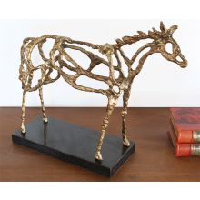 Abstract Gold Horse Figure--Cleared Art