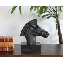 Bronze Horse Head Statue--Cleared Art