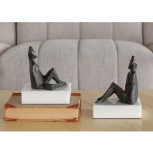 Pair Of Bronze Reclined Figures--Cleared Art