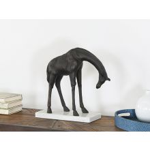 Bronze Slouching Giraffe --Cleared Art