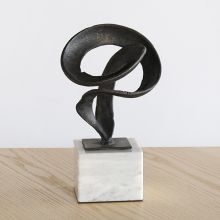 Abstract Ribon Bronze Sculpture -- Cleared Art