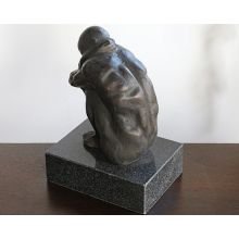 Crouching Bronze Figure -- Cleared Art