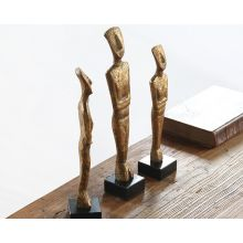 Set Of 3 Gold Figurines -- Cleared Art