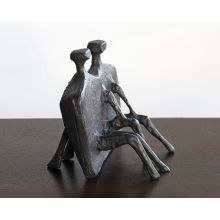 Bronze Abstract Couple Sculpture--Cleared Art