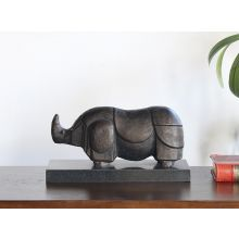 Abstract Style Bronze Rhinoceros --Cleared Art