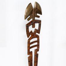 4' Totem Antique Brass Sculpture - Cleared Décor