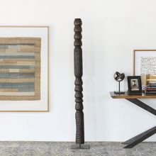 """73"""" H Primitive Totem Sculpture - Cleared Décor"""