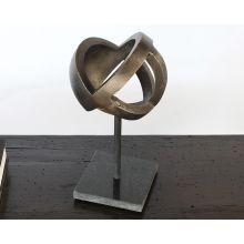 Large Antique Brass Ball Sculpture - Cleared Décor
