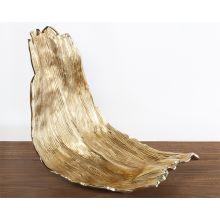 Gold Bark Sculpture - Cleared Decor
