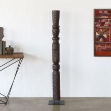 "60"" H Primitive Totem Sculpture - Cleared Decor"