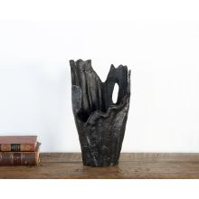 Black Abstract Sculptural Vase - Cleared Decor