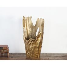 Gold Abstract Sculptural Vase - Cleared Decor