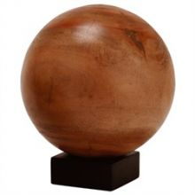 Large Wood Orb on Stand - Cleared Décor
