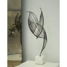 Bird Like Iron/Marble Sculpture - Cleared Décor