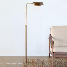 Koleman Adjustable Task Floor Lamp in Brass
