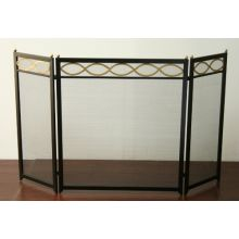 Black and Brass Fireplace Screen