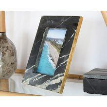 Medium Black Marble And Brass Frame 4W X 6H