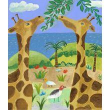 Giraffes 24W x 28H