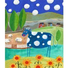 Blue Cow 24W x 28H