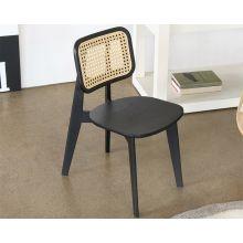 Cane Kid's Chair Black