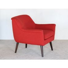 Murphy Lounge Chair in Poppy Red
