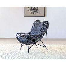 Wicker Butterfly Occasional Chair