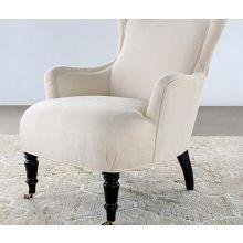 Tightback Lounge Chair in Linato Cream