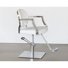 White Leatherette Salon Chair