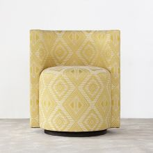 Poppy Swivel Chair In Canary
