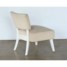 Contemporary Lounge Chair With Cream Upholstery