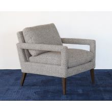 Light Heather Gray Open Arm Lounge Chair
