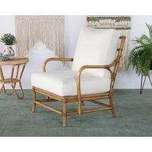 Cushioned Rattan Lounge Chair