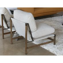 Natural Taupe With Parawood Frame Lounge Chair