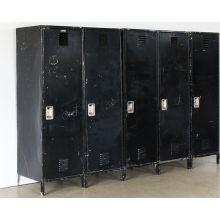 Simple Black Precinct Locker