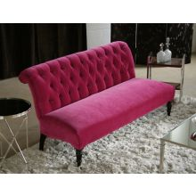 Orchid Tufted Scroll-Back Loveseat