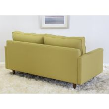 Modern Fern Apartment Sofa with Tapered Walnut Legs