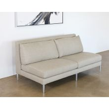 Armless Loveseat In Fawn