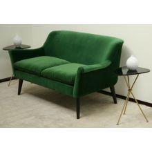 Emerald Green Velvet Loveseat