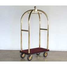 Brass Birdcage Style Luggage Cart