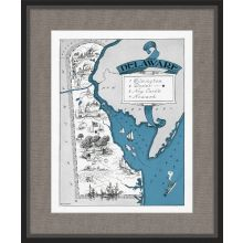 Illustrated Map of Delaware 21.5W x 26H