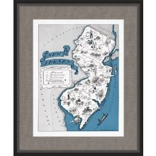 Illustrated Map of New Jersey 21.5W x 26H