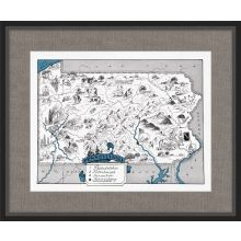 Illustrated Map of Pennsylvania 26W x 21.5H