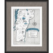 Illustrated Map of Vermont 21.5W x 26H