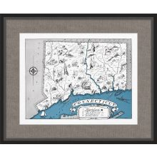 Illustrated Map of Connecticut 26W x 21.5H