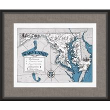 Illustrated Map of Maryland 26W x 21.5H