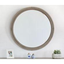 Soft Greywash Wood Mirror
