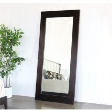 Leaning Floor Mirror With Wide Ebony Border