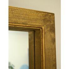 Antique Textured Gold Gilt Floor Mirror